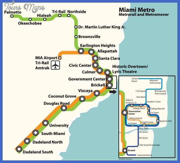 Miami Subway Map - Toursmaps within Miami Metro Bus Route Map