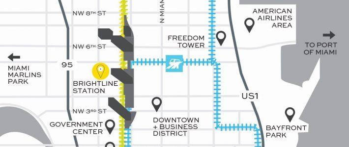 Miami Train Station | Brightline | Train Station, Sunshine regarding Downtown Miami Train Map