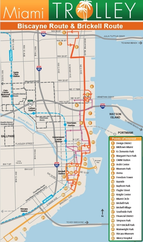 Miami Trolley Now Servicing The Miami Design District in Map Of South Beach Miami Florida