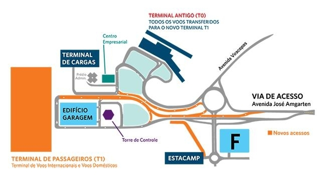 O Aeroporto Internacional De Viracopos Parque De within Aeroporto De Miami Mapa Interno