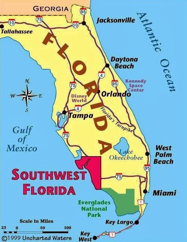 Orlando Descomplicada: Orlando: Como Tudo Começou inside Mapa Miami Florida Usa
