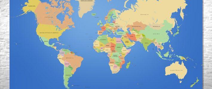 Painel Mapa-Múndi - Frete Grátis No Elo7 | One Artes (B844Da) with regard to Miami No Mapa Mundi