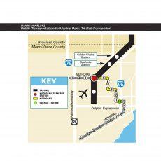 Public Transportation Miami Metrorail Map for Miami Dade Metro Rail Map