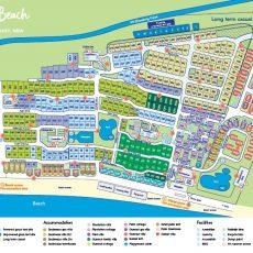 Resort Map | Nrma Ocean Beach Holiday Resort | Nrma Parks in Miami Beach Resort Map