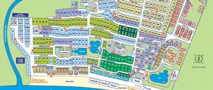 Resort Map   Nrma Ocean Beach Holiday Resort   Nrma Parks in Miami Beach Resort Map