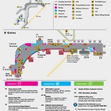 Seattle-Tacoma Airport Map (Sea) - Printable Terminal Maps for Miami Airport Map Terminal C