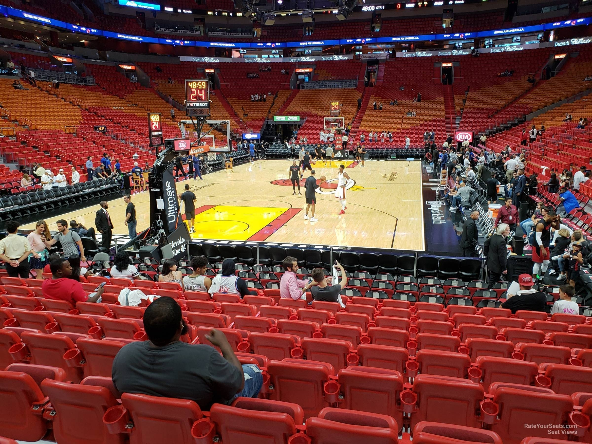 Section 112 At Americanairlines Arena - Miami Heat within Aa Arena Miami Seat Map