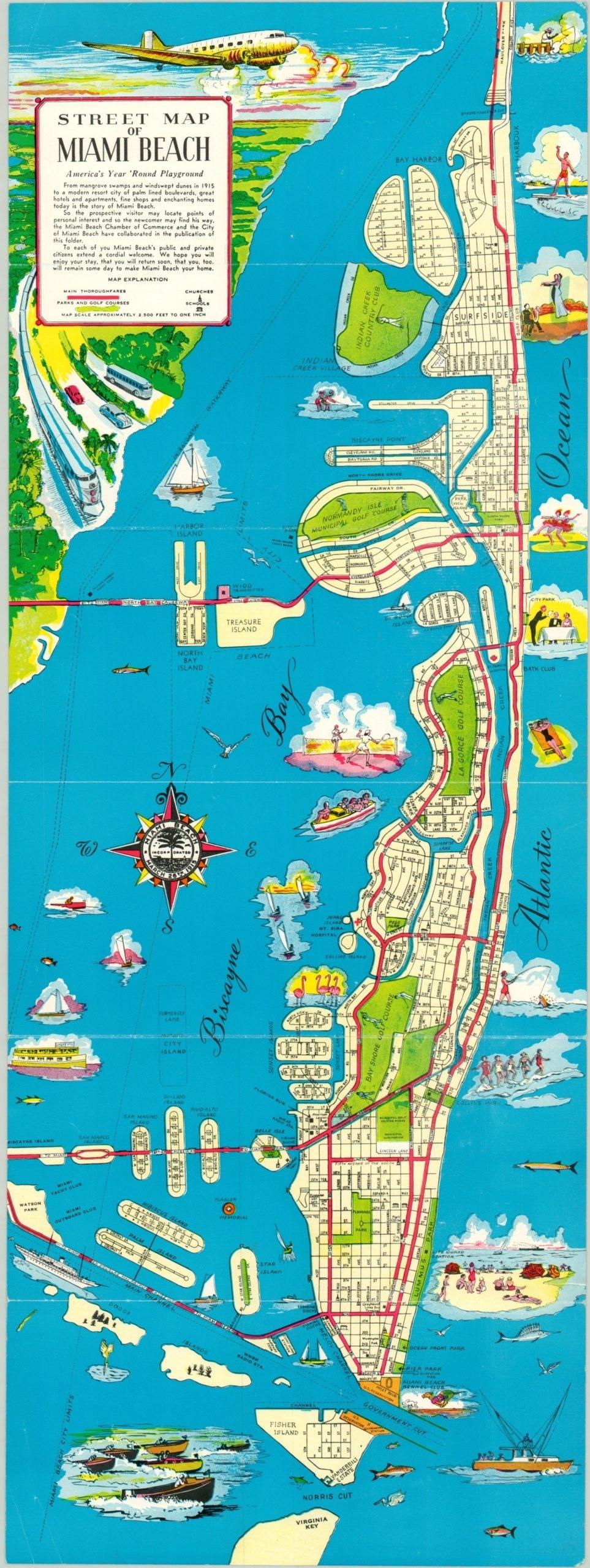 Street Map Of Miami Beach | Curtis Wright Maps within Miami Beach City Map