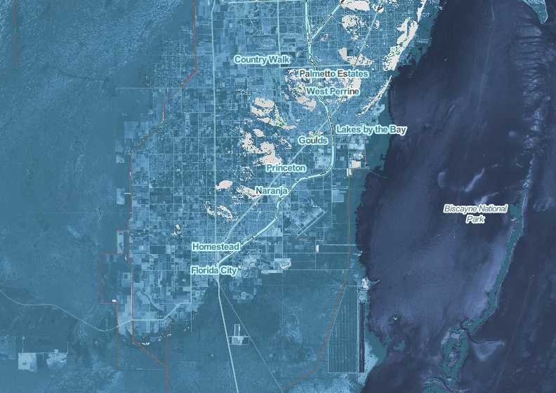 """Study Finds """"Extreme"""" Sea Level Rise Could Displace Entire in Miami Beach Sea Level Map"""