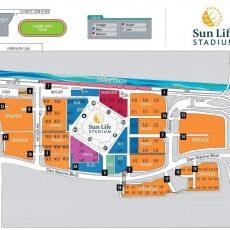 Sun Life Stadium Parking Map for Miami Dolphins Stadium Parking Lot Map