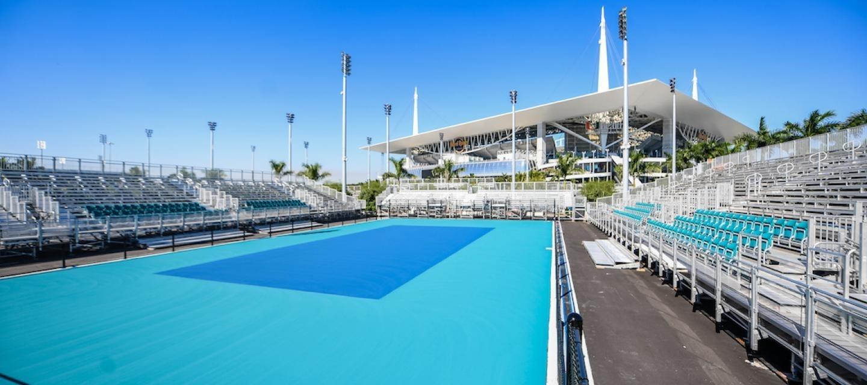 Tennis League Network Blog: January 2019 with Hard Rock Stadium Miami Open Map