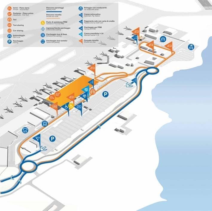 Terminal Dell'Aeroporto Di Palermo, I Servizi Disponibili pertaining to Mappa Aeroporto Miami International