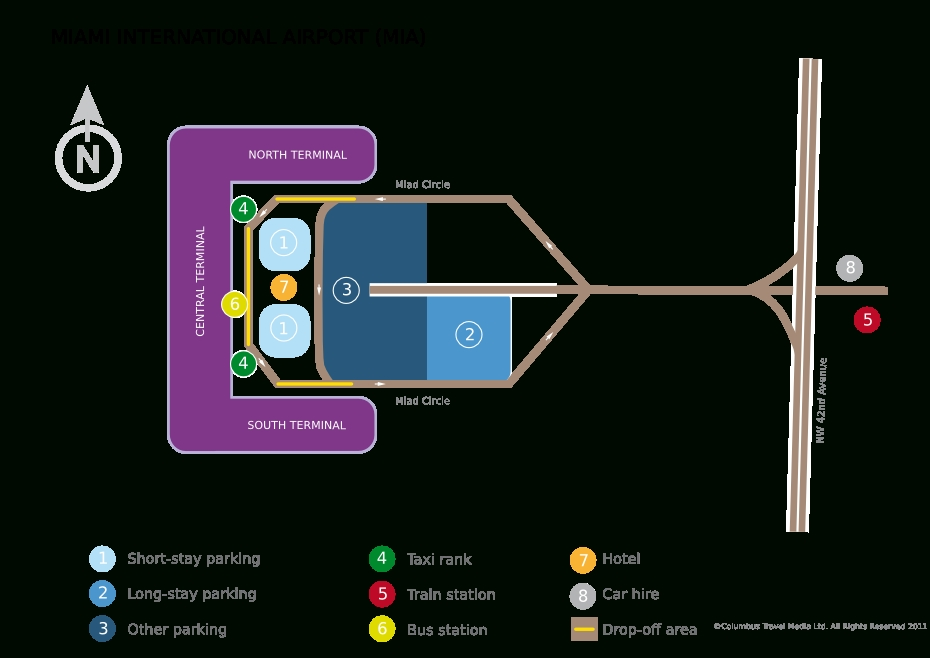 The Complete Guide To Miami International Airport for Miami Airport American Airlines Terminal Map