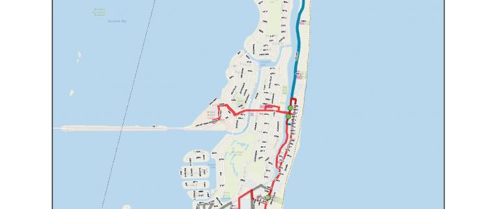 Trolley And South Beach Local Bus | West Avenue within Miami Beach South Beach Map
