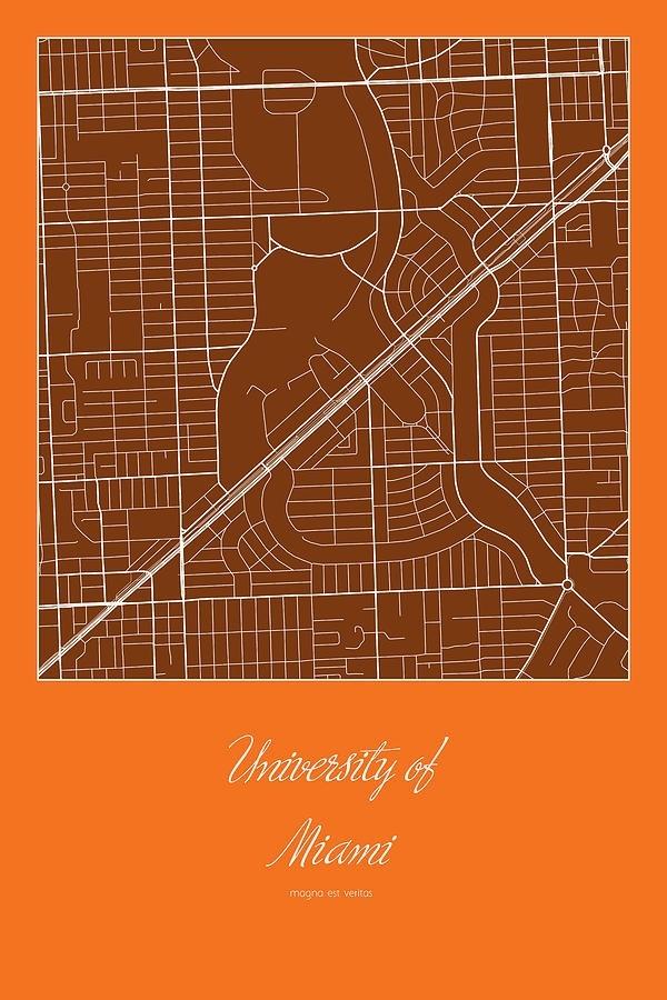 Um Street Map - University Of Miami In Miami Map Digital with regard to University Of Miami Florida Map