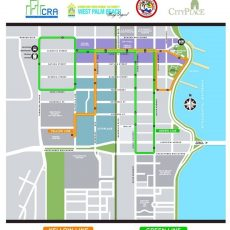 West Palm Beach Trolley Map   Downtown West Palm Beach throughout Miami Beach Trolley Route Map