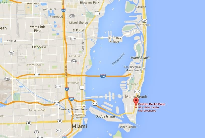 Where Is Art Deco District On Map Miami Beach with South Beach Miami On Map