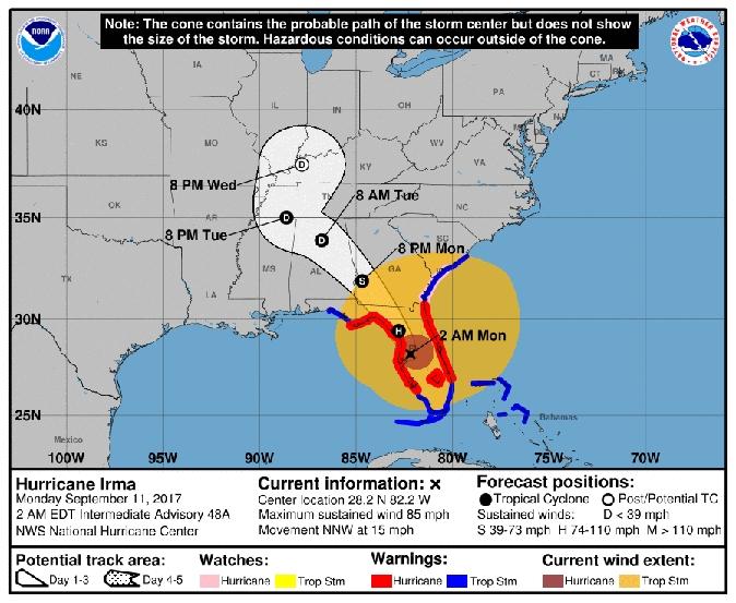 Where Is Hurricane Irma Now? Latest Threat To Florida, Usa within Miami Beach Storm Surge Map