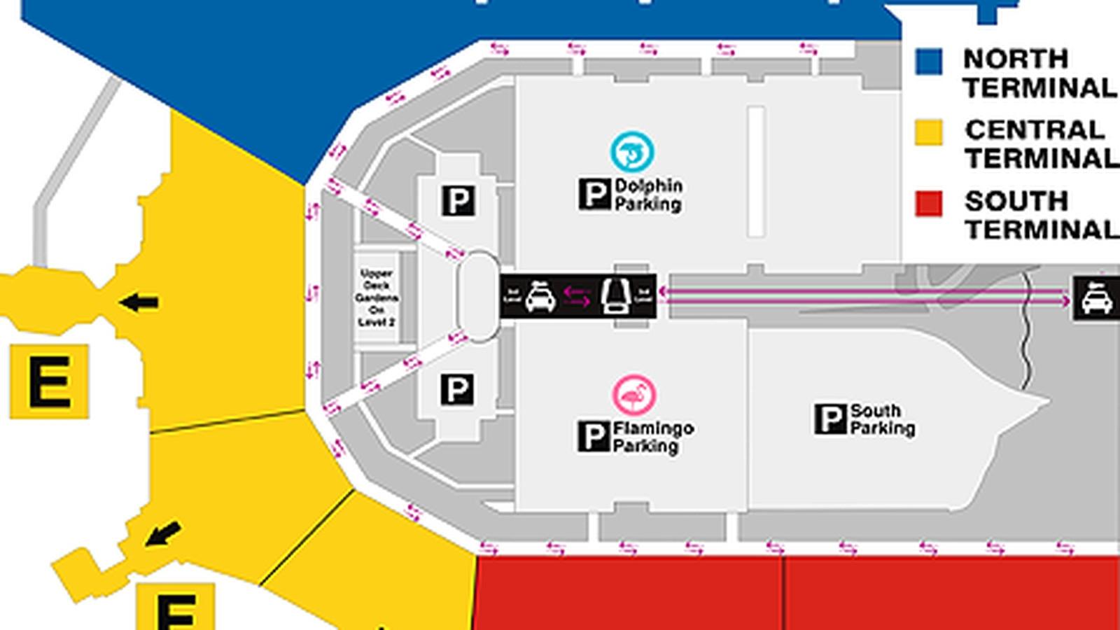 Where To Eat At Miami International Airport (Mia) - Eater pertaining to Aeropuerto Miami Mapa Interno