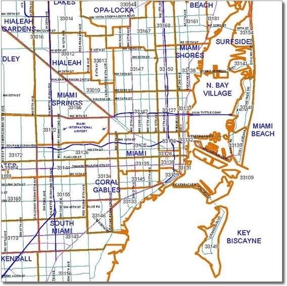 Zip Codes En Miami-Dade - Blog Para La Compra, Venta Y regarding Zip Code Map Miami Dade Fl